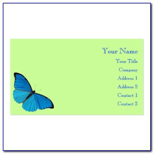 Butterfly Business Card Template Free