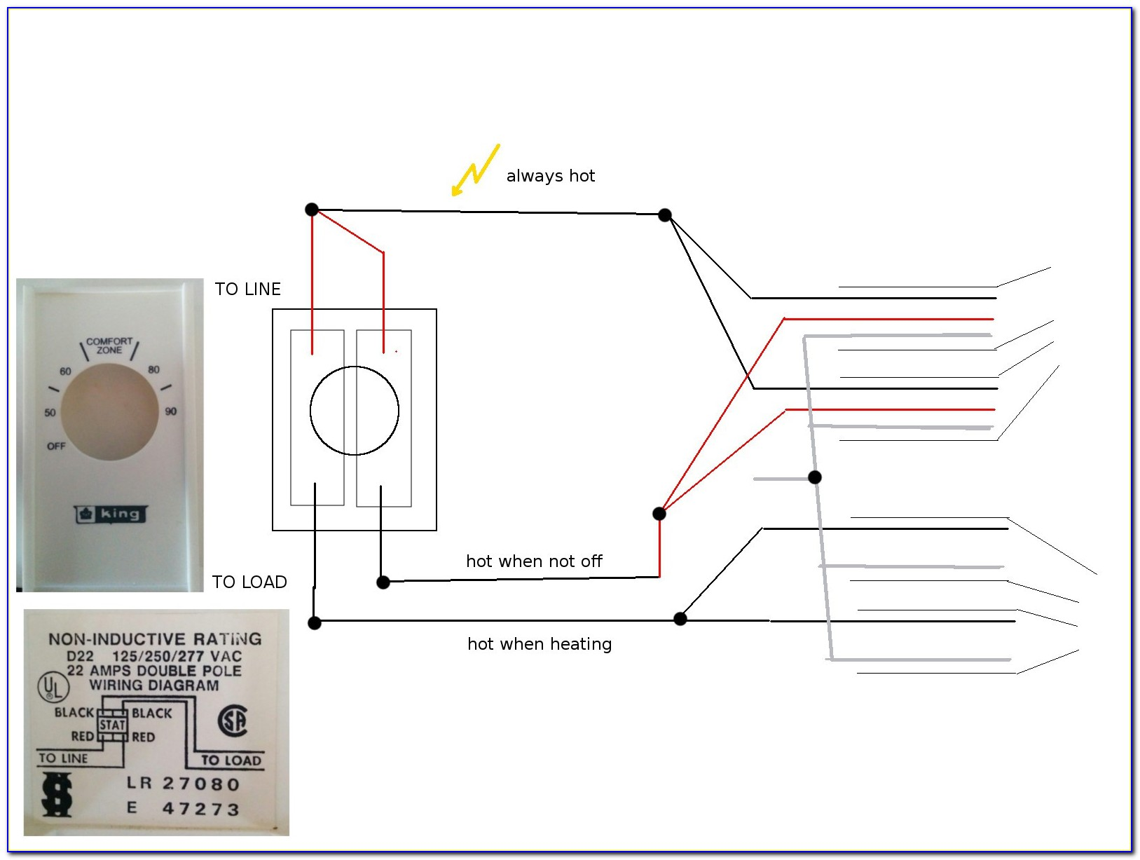 Cadet Double Pole Thermostat Wiring Diagram