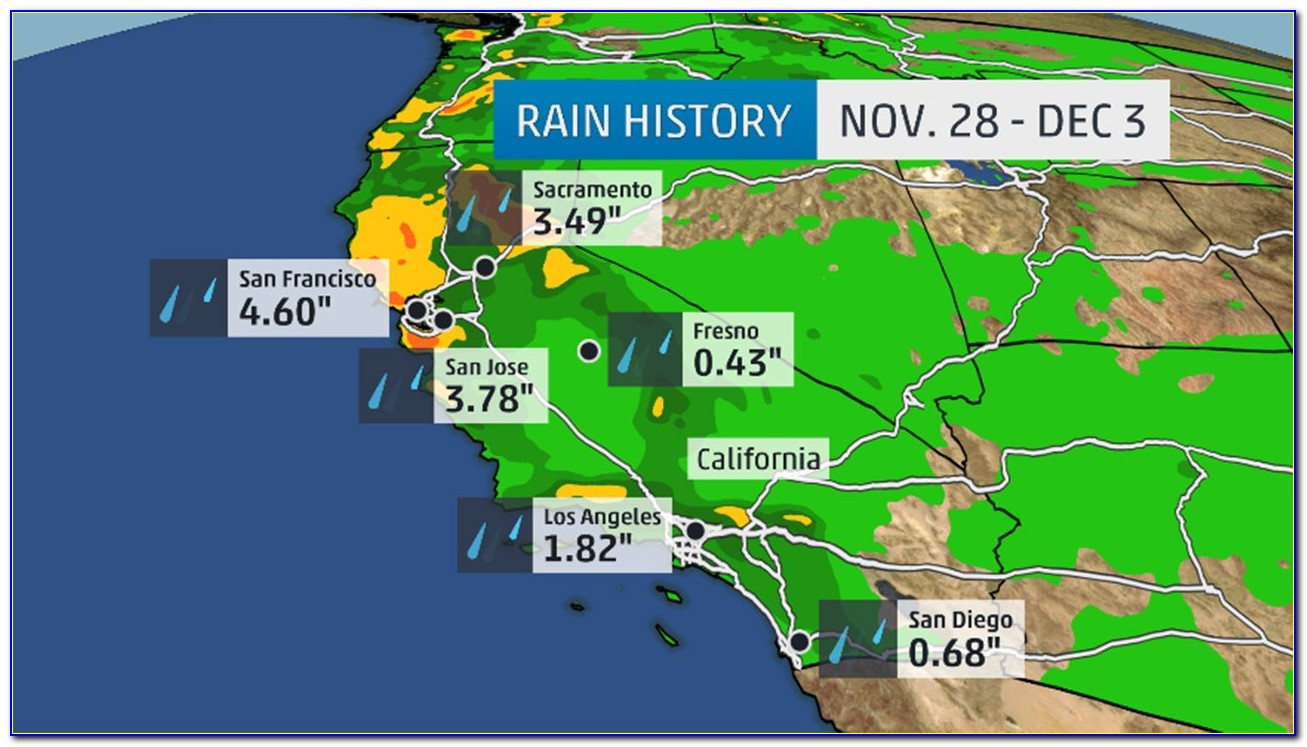 California Weather Map 10 Day