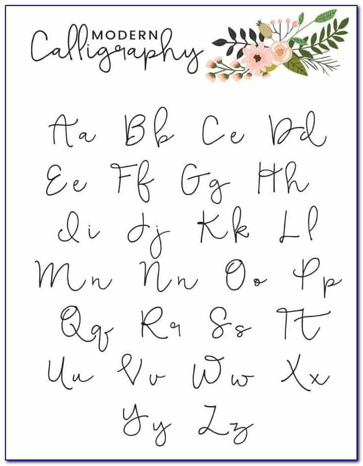 Calligraphy Alphabet Letters Printable