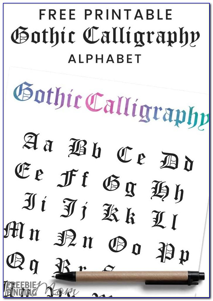 Calligraphy Capital Letters Printable