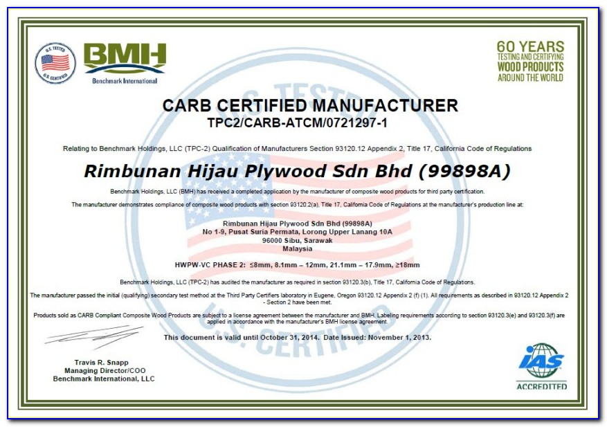 Carb Truck And Bus Compliance Certificate