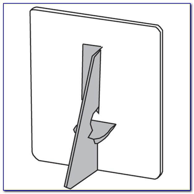 Cardboard Easel Stand Template