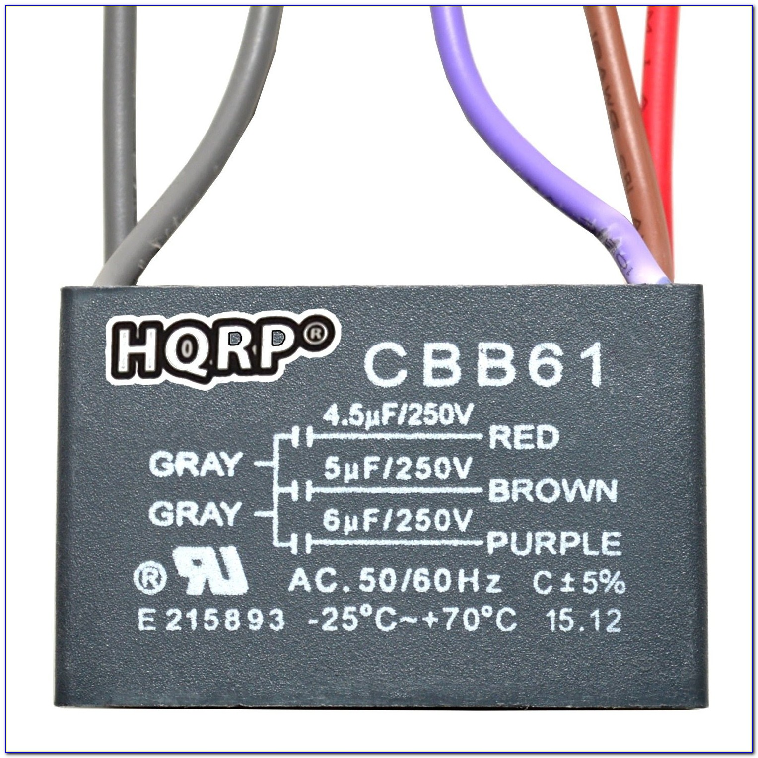 Cbb61 Capacitor 3 Wire Wiring Diagram