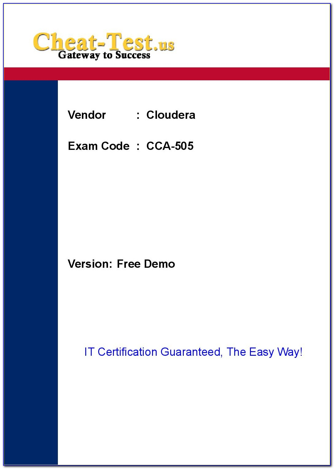 Cca Certification Study Guide