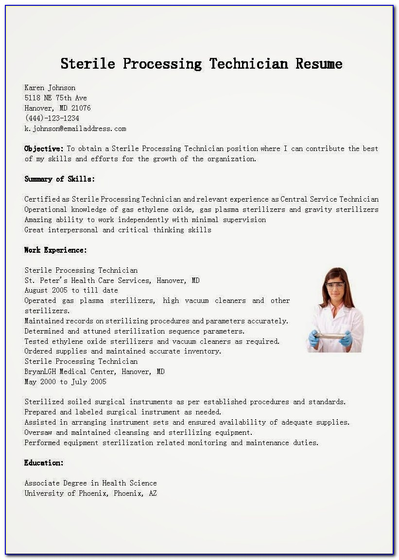 Central Sterile Processing Technician Certification Test
