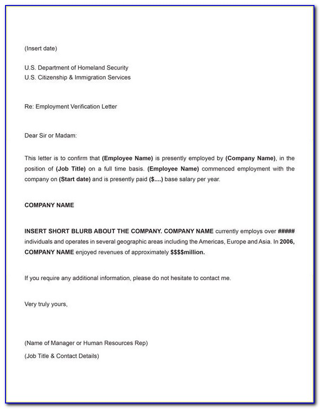 Certificate Of Employment Sample Request Letter