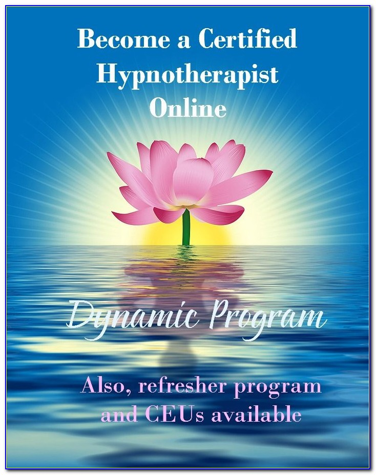 Certified Hypnotherapy Training Online