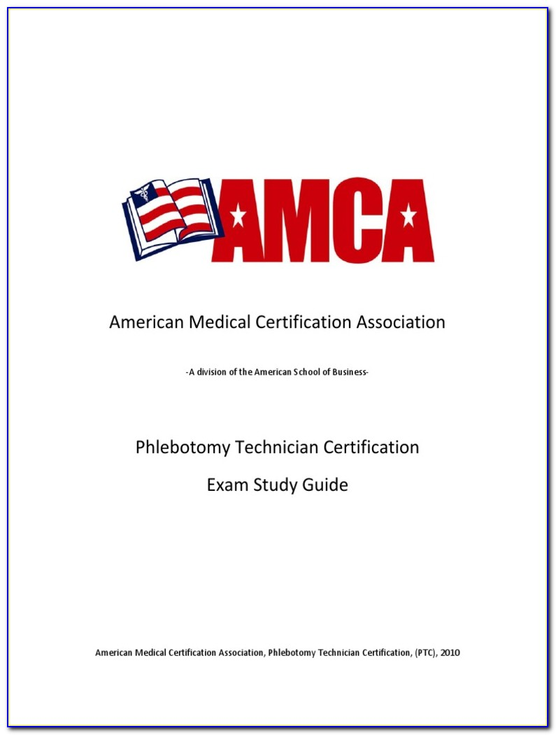 Certified Phlebotomy Technician Exam Study Guide