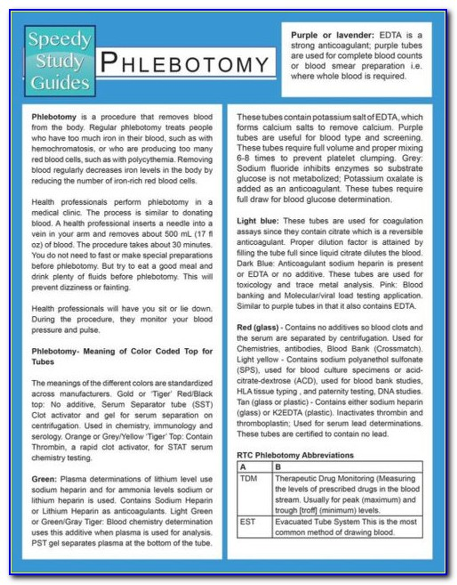 Certified Phlebotomy Technician Study Guide 2.0
