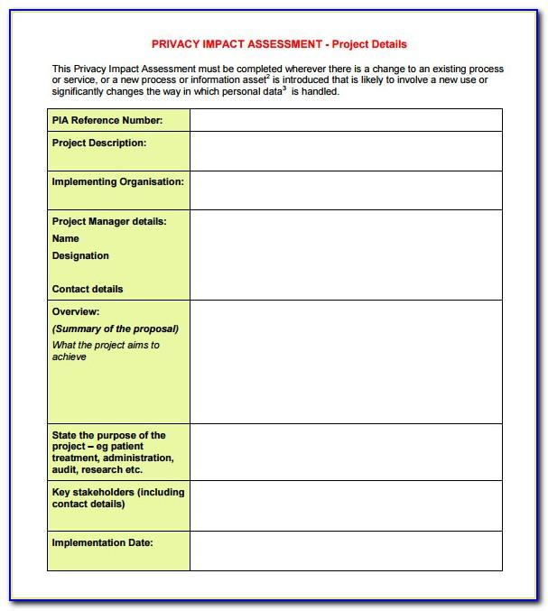 Change Management Impact Assessment Example