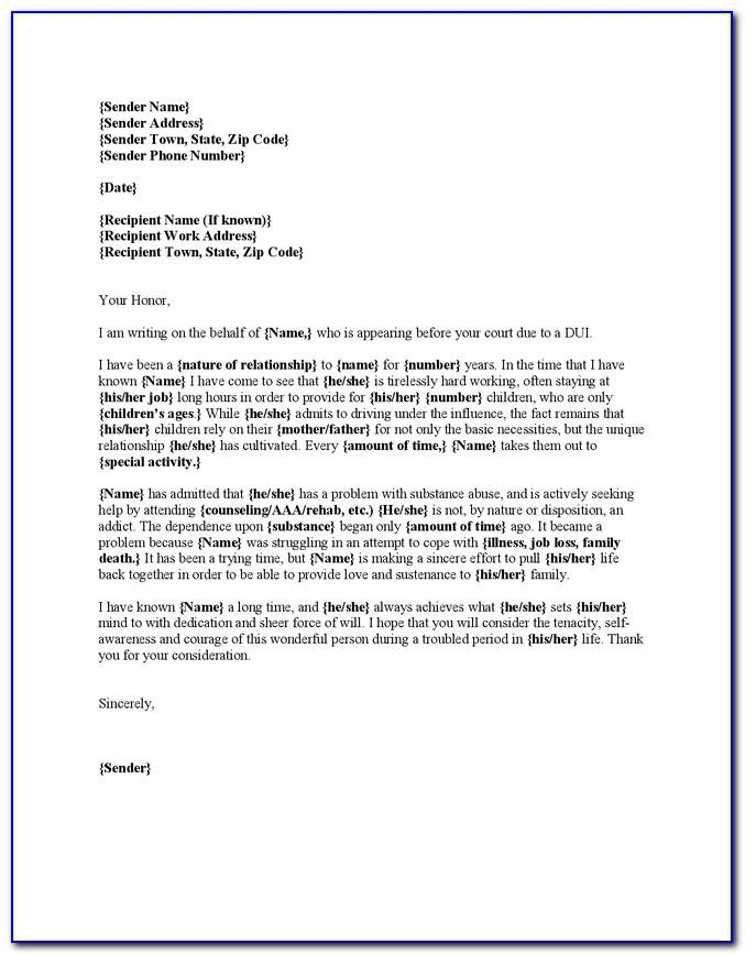 Character Reference Letter For Court Template Qld
