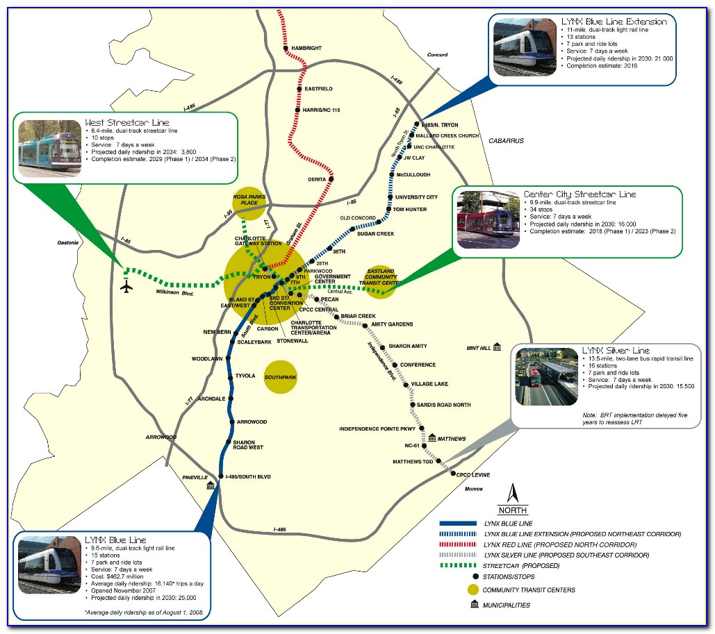 Charlotte Lynx Route Map