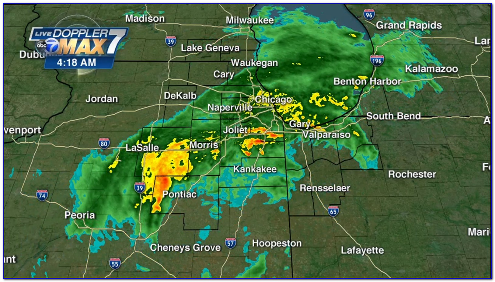 Chicago Weather Map Wgn