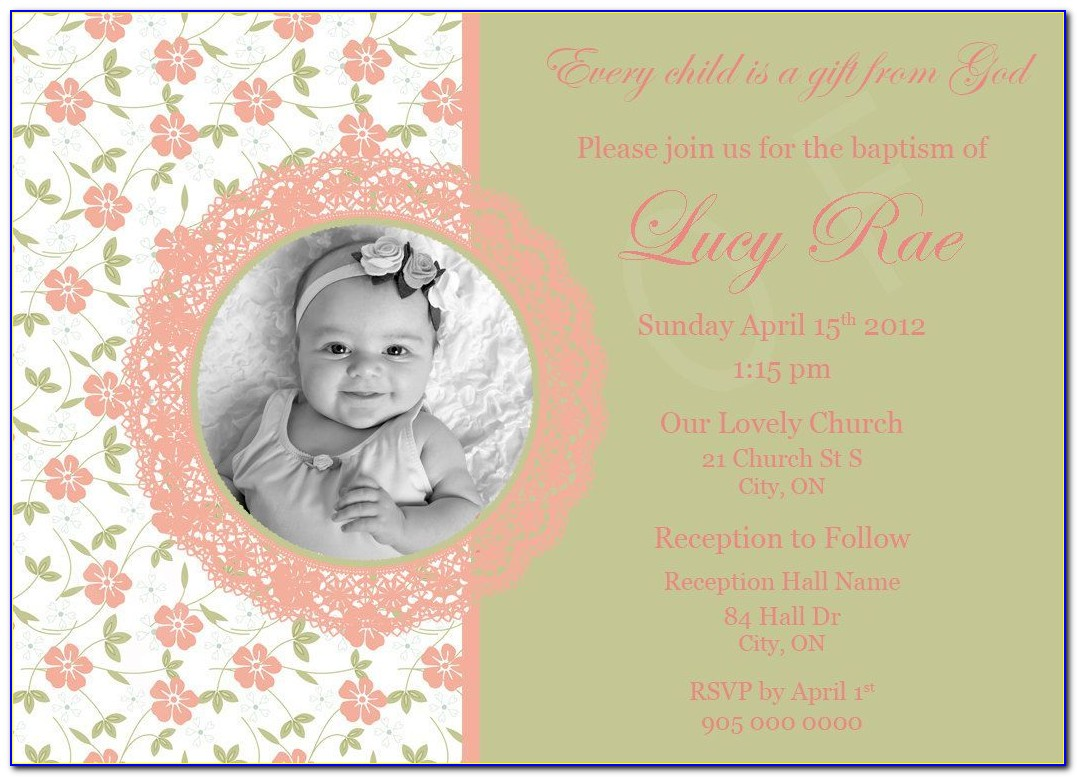 Christening And Birthday Joint Invitations