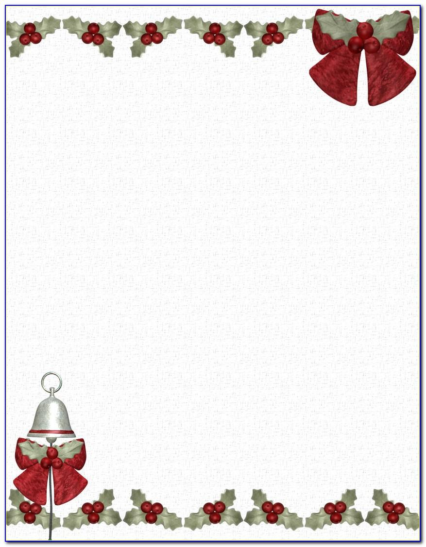 Christmas Stationery Template For Word