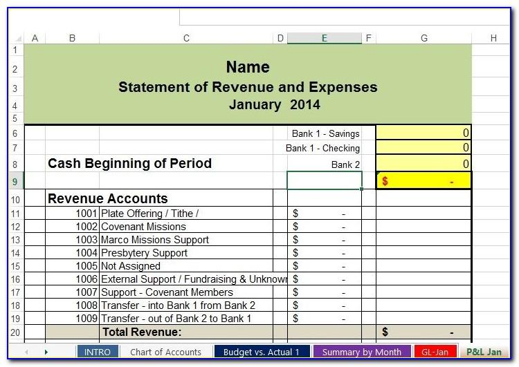 Church Financial Report Example