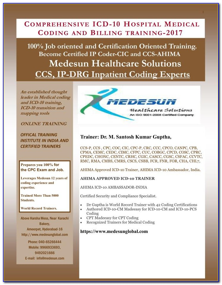 Cic Coding Certification