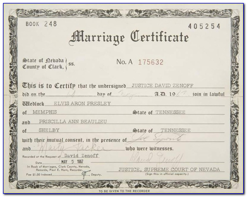 Clark County Nv Marriage Certificate Search