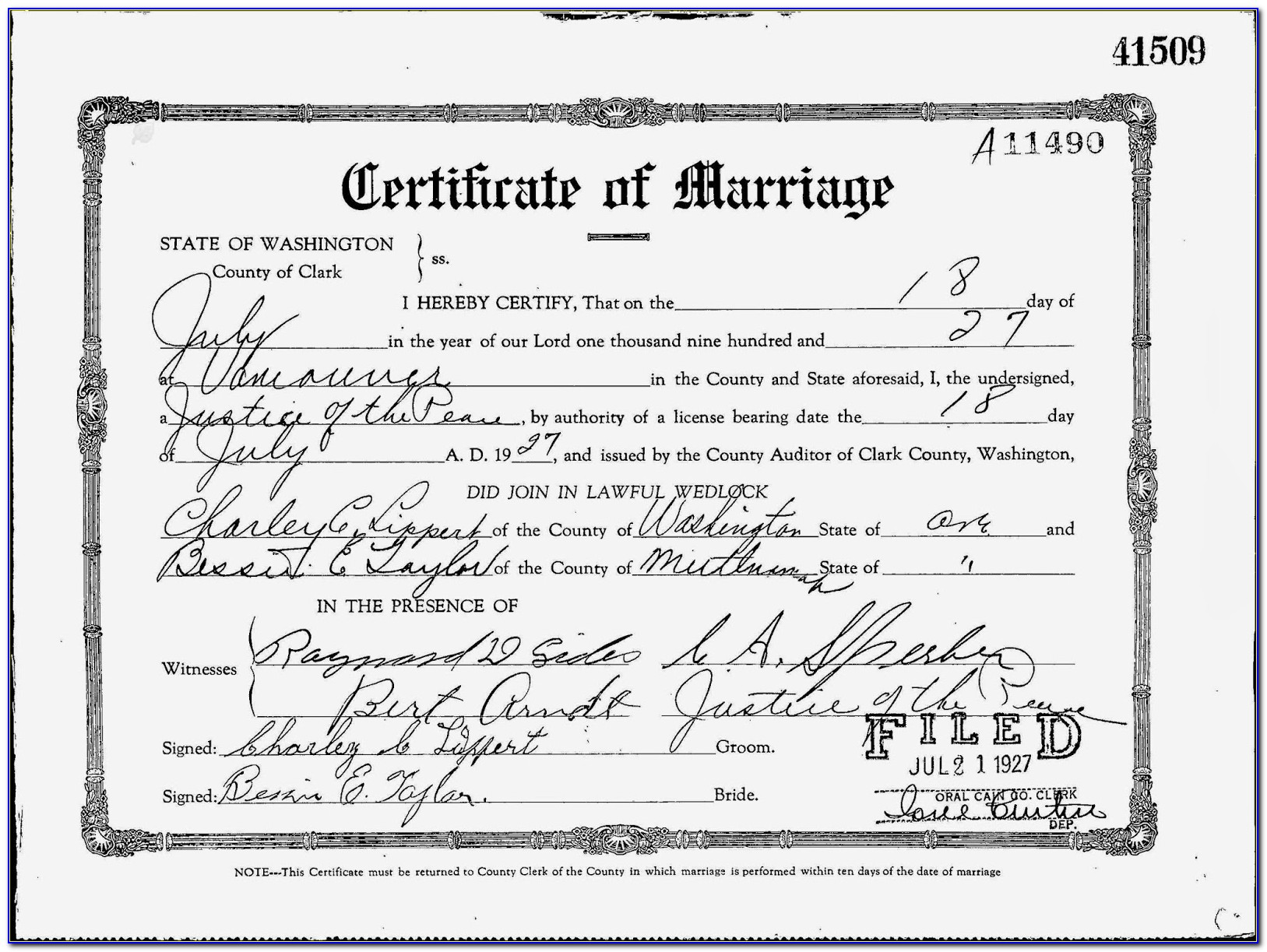 Clark County Wa Marriage License Application