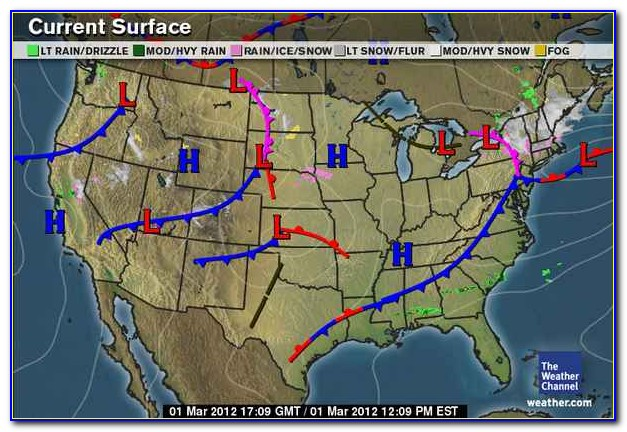 Classic National Weather Map