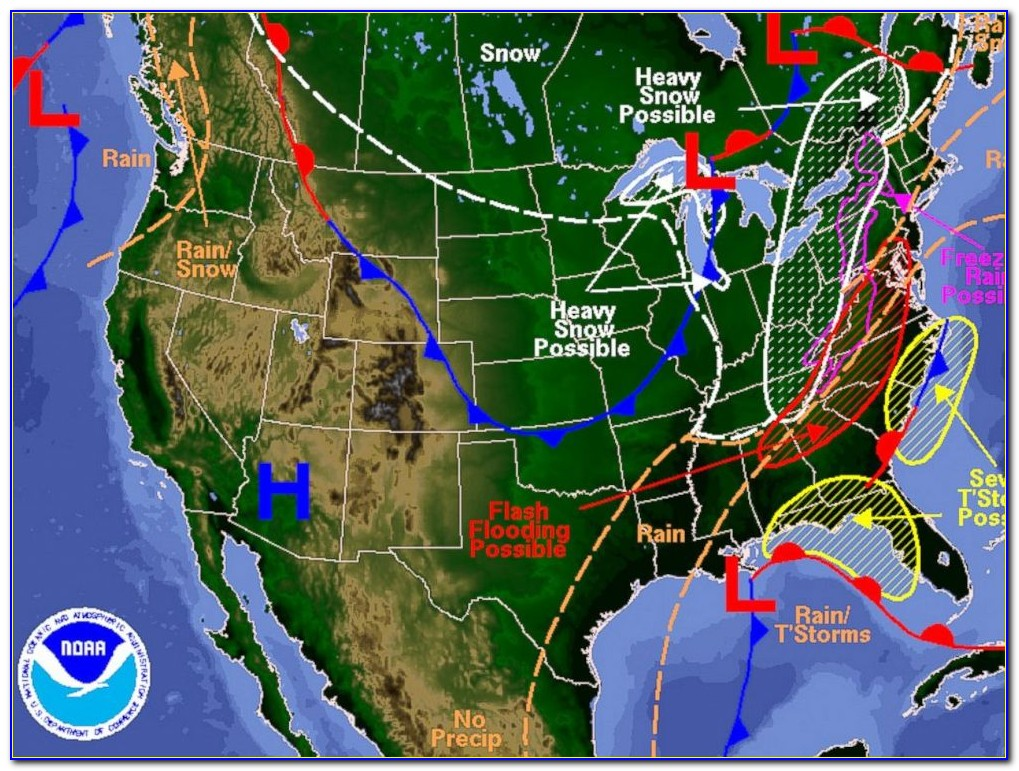 Classic Weather Map Us