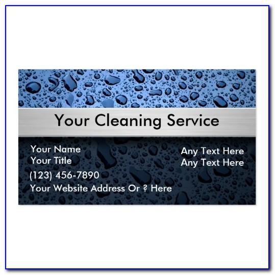 Cleaning Company Business Card Template