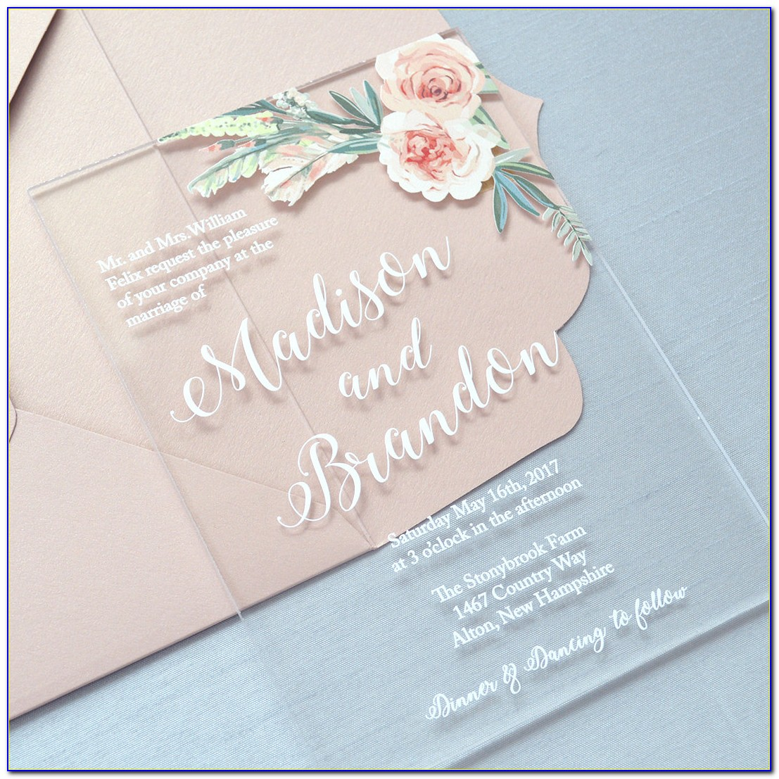 Clear Envelopes For Wedding Invitations