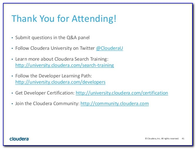 Cloudera Certification Program For Data Science