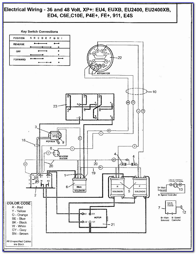 Club Car 48 Volt Battery Charger Wiring Diagram