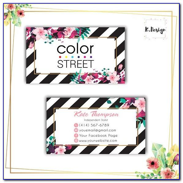 Color Street Business Card Images