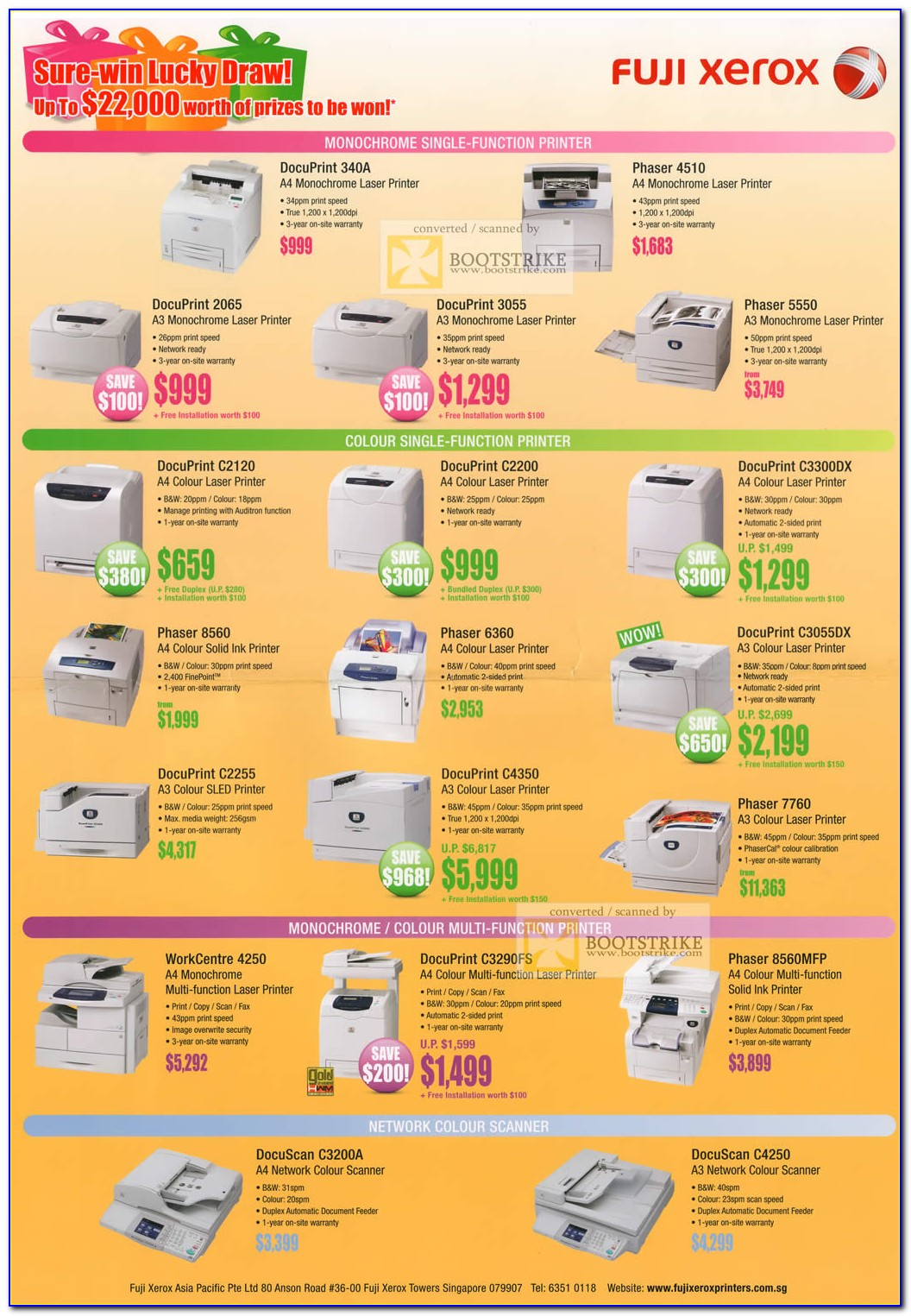 Xerox 5855 Brochure Download