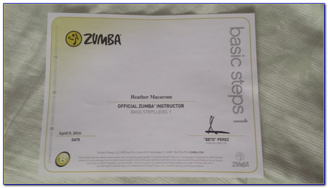 Zumba Instructor Certification Requirements