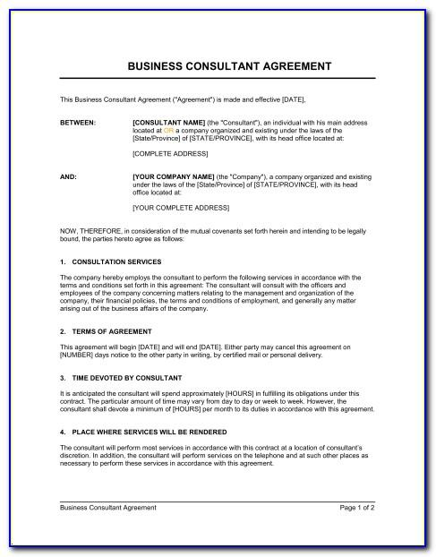Consulting Contract Sample Pdf