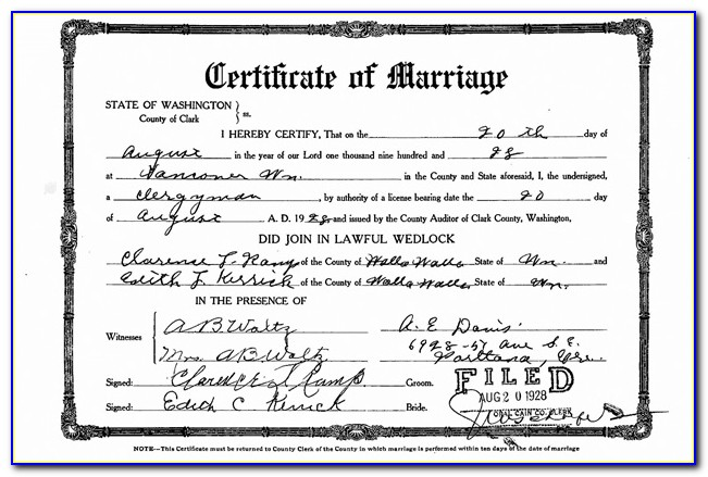 Copy Of Marriage Certificate Pittsburgh Pa
