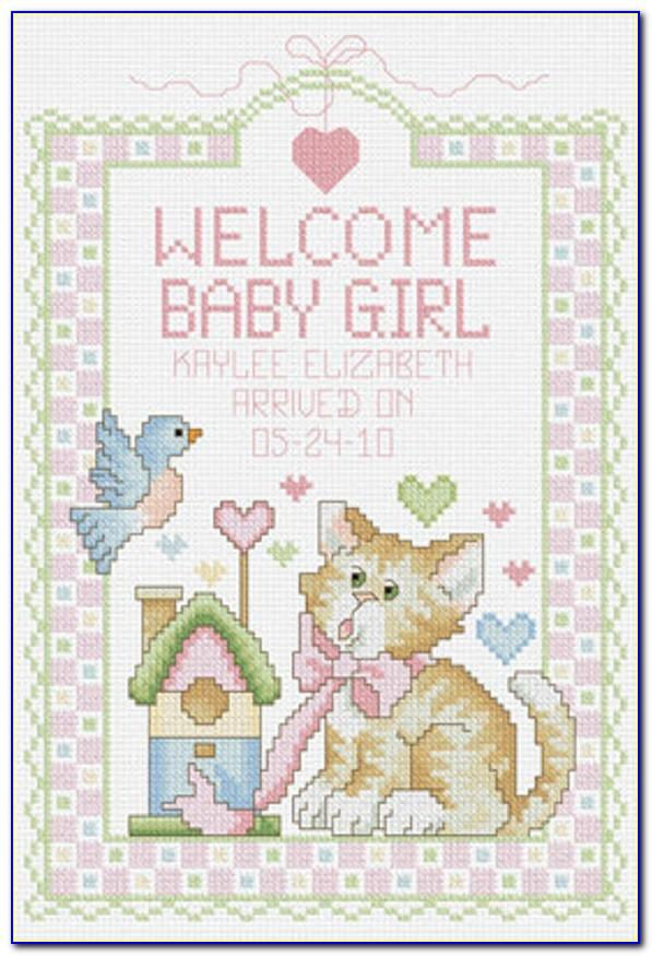 Counted Cross Stitch Baby Announcement Patterns