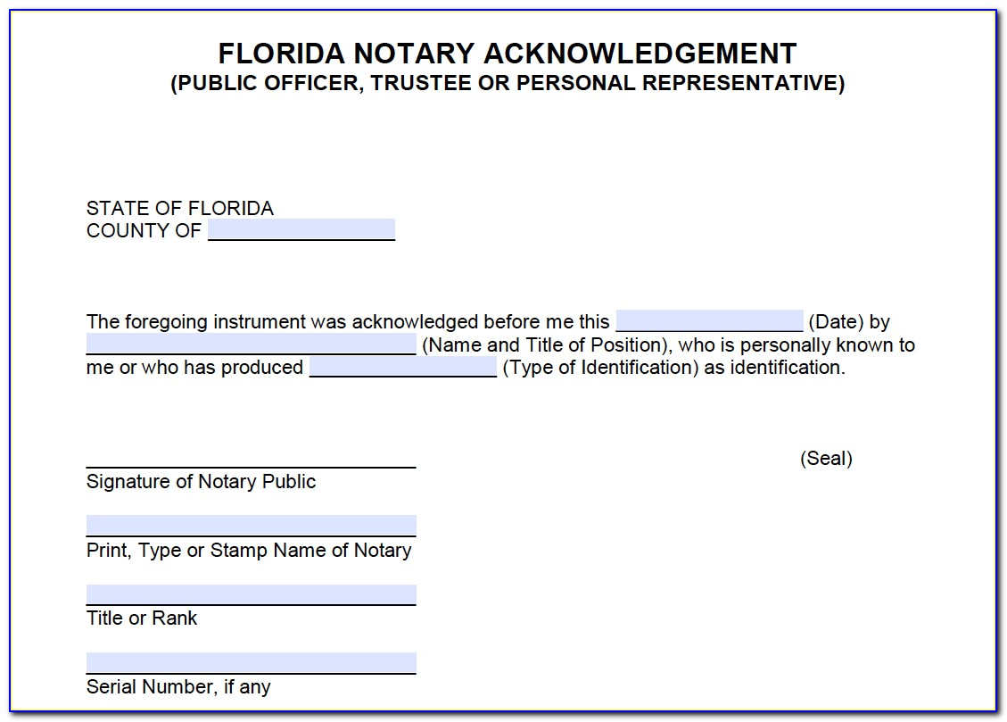 County Clerk Certification Notary Florida