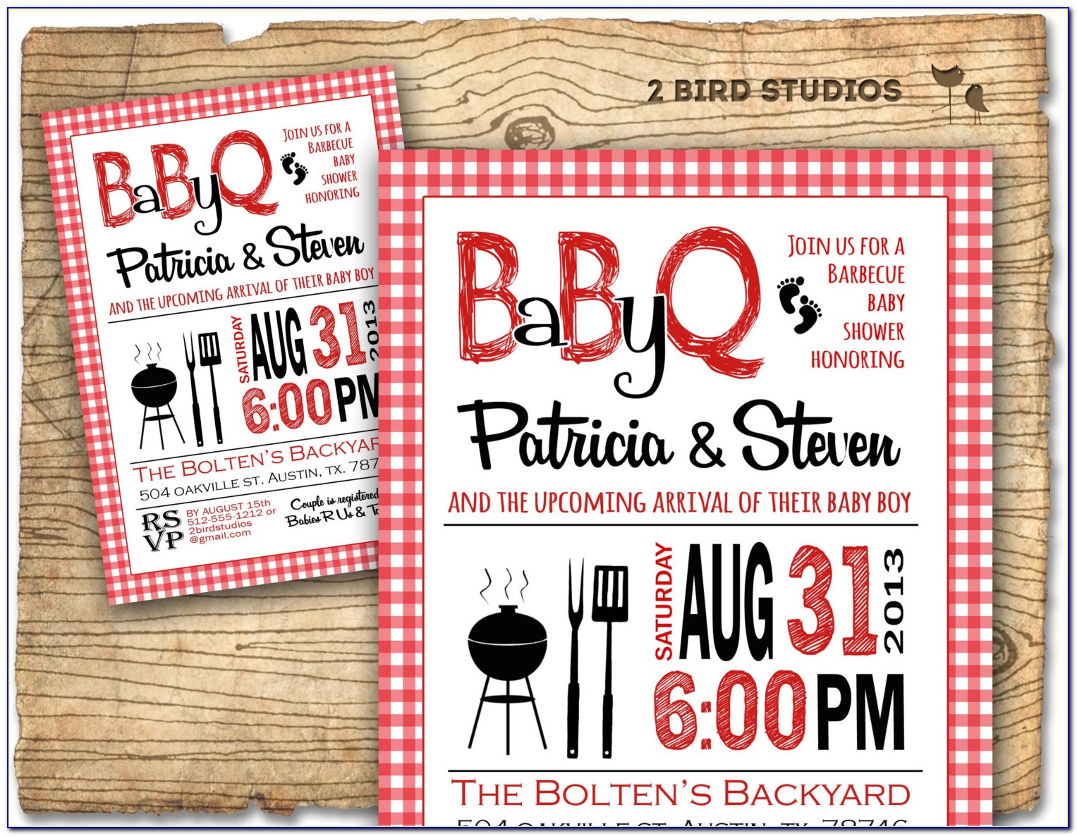 Couples Baby Shower Bbq Invitations