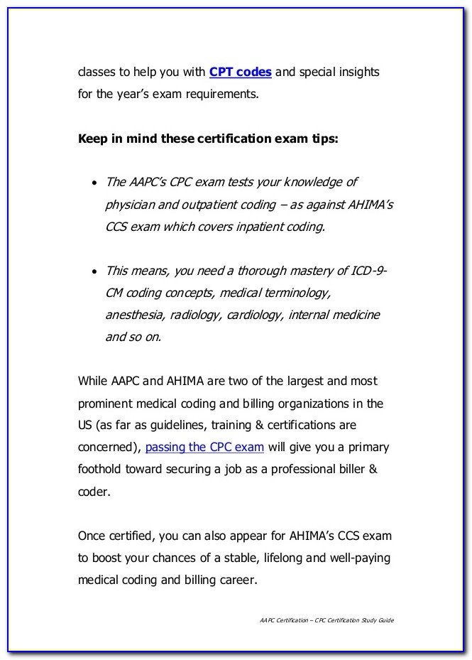 Cpc Certification Study Guide Free