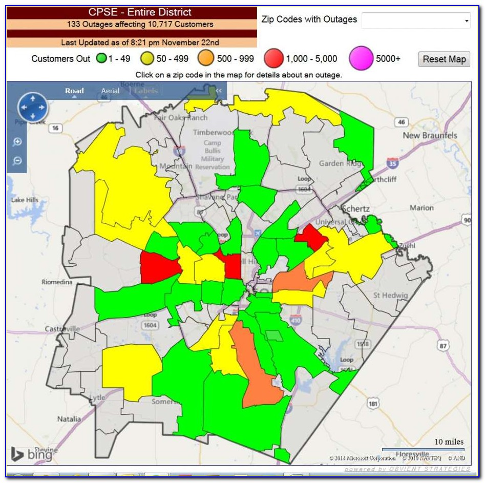 Cps Energy Outage Map San Antonio
