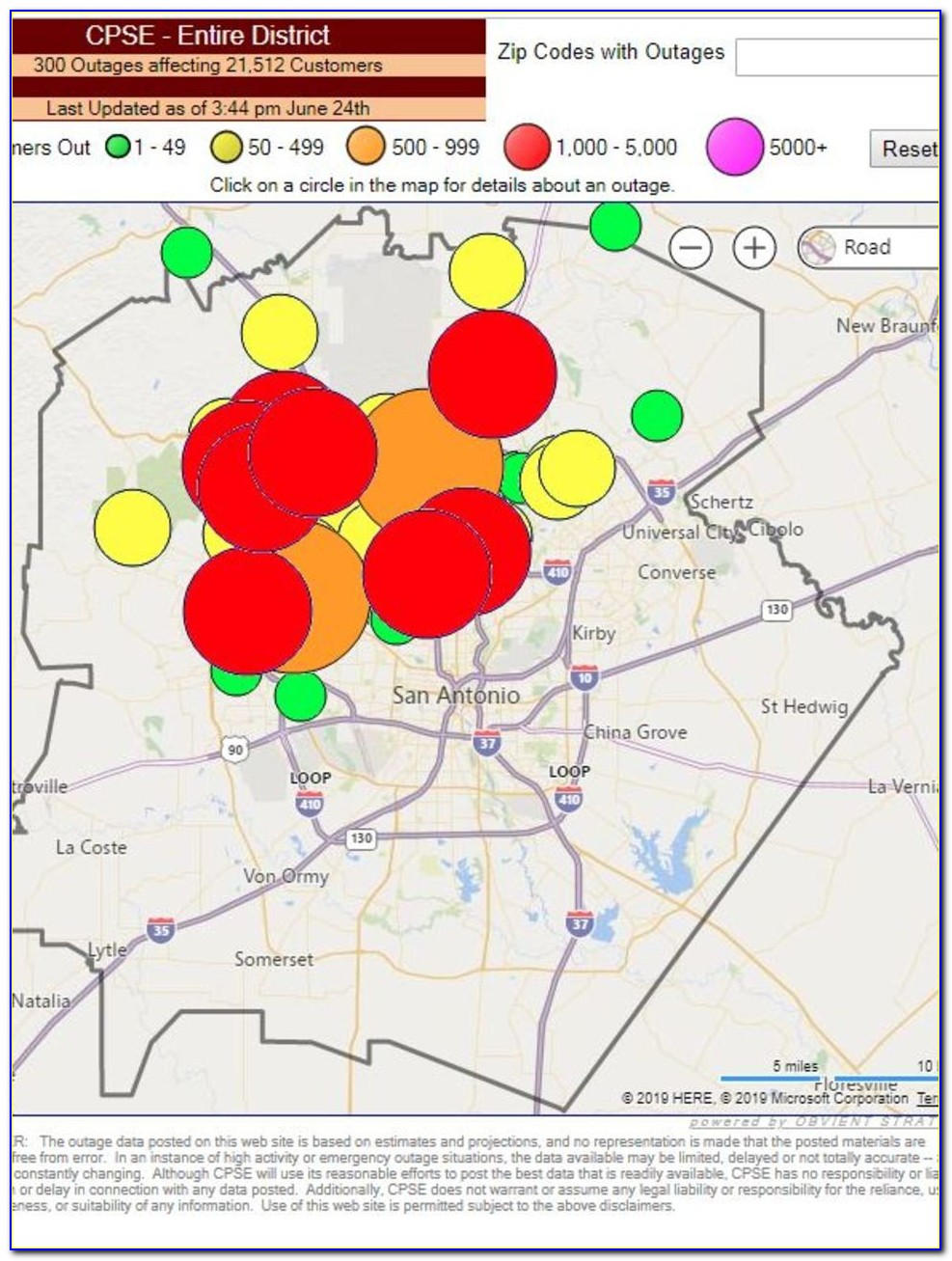 Cps Outage Map 78254