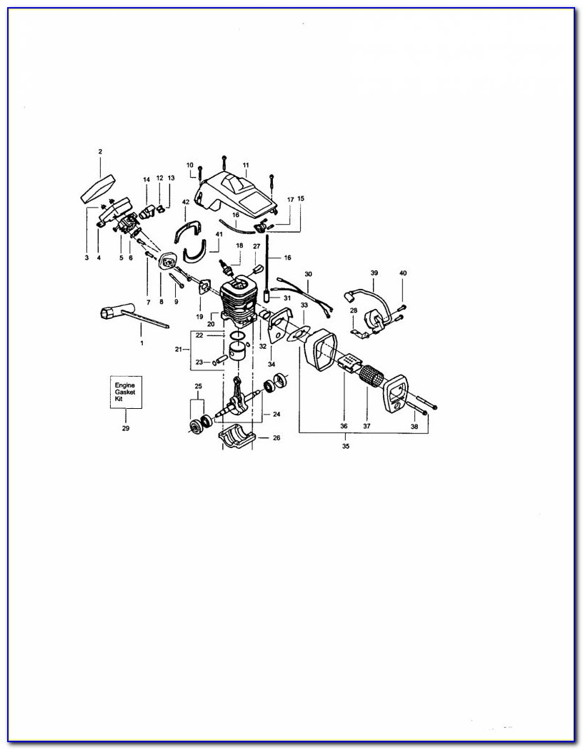 Craftsman 18 42cc Chainsaw Fuel Line Routing