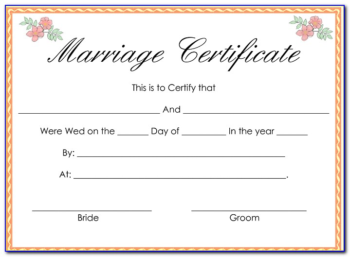 Create Fake Marriage Certificate Online Free India