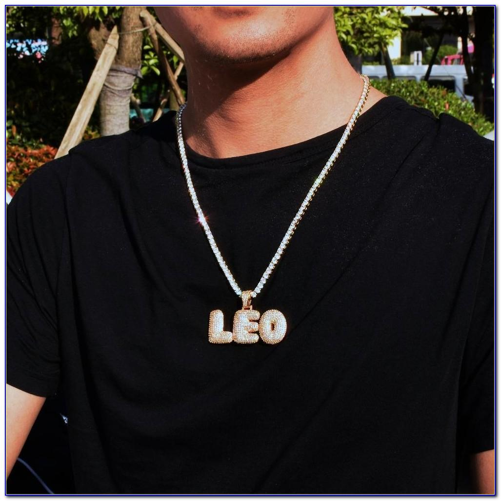 Custom Bubble Letter Chain Real