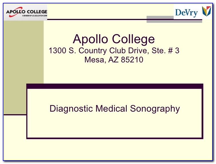 Diagnostic Medical Sonography Certificate