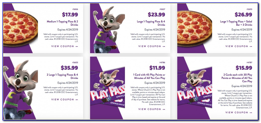 Does Chuck E Cheese Sell Gift Certificates