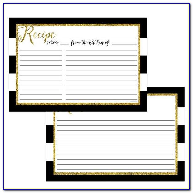 Double Sided Recipe Card Template