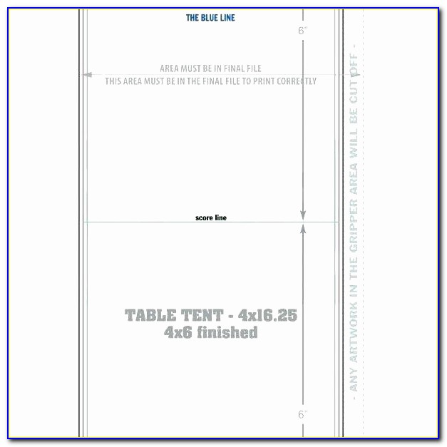 Double Sided Tent Card Template 5302