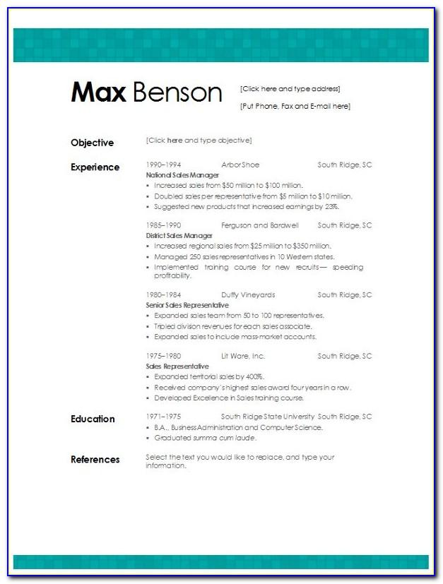 Downloadable Cv Templates For Word