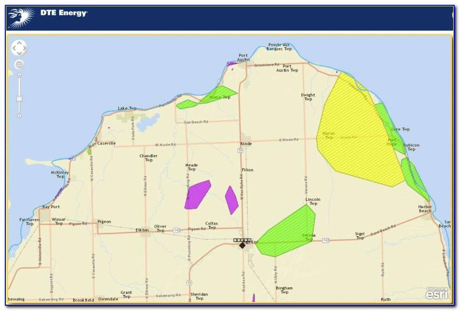 Dte Outage Map Status